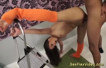 Super hot and flexibile stepsister banged by her stepbro