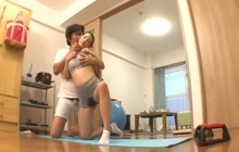 Japanese hottie fucked by her yoga instructor