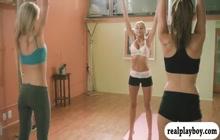 Nude girls doing yoga